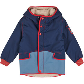 Finkid Pikku Mukka Reversible Winterjacket Kids, navy/red